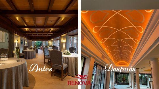 Imágenes del antes y después de la renovación del interior del Hotel Cordial Mogan Playa